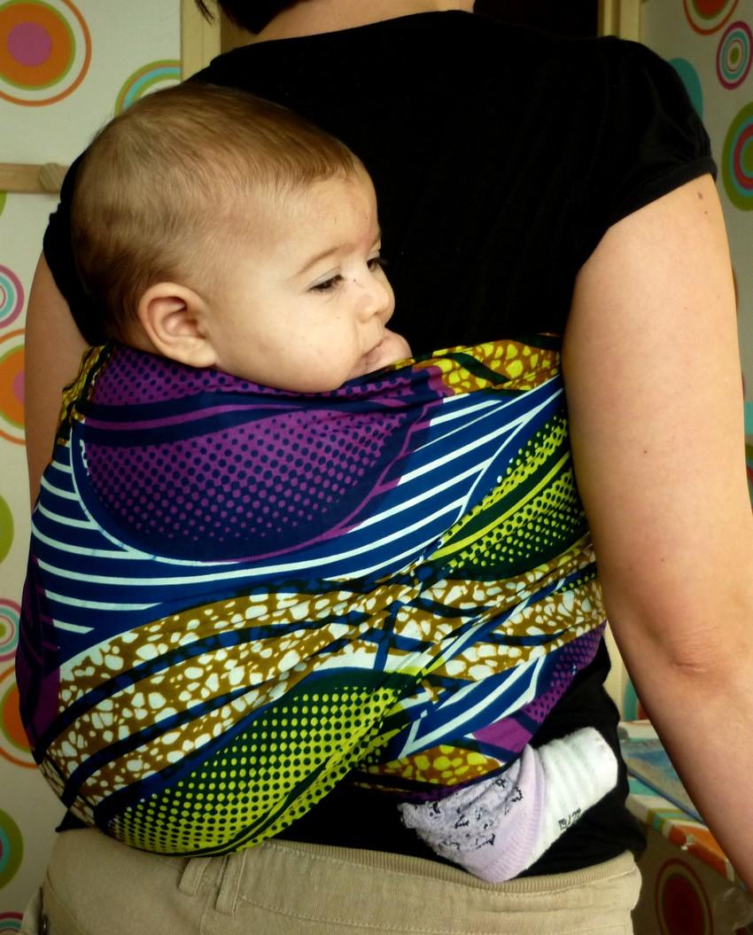 Pagne africain pour porter bébé