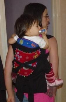laotien croisement lanières dos bébé