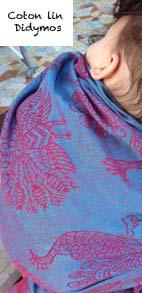 écharpe de portage pour l'été en coton lin