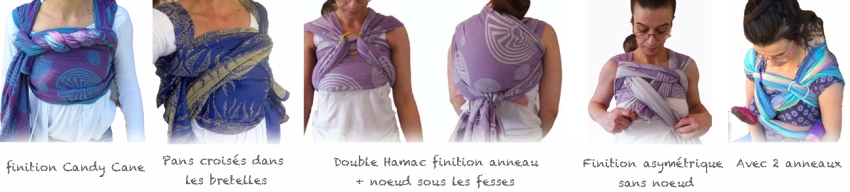 Finitions possibles sur double hamac dos bande passante