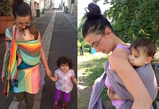 hamac pour porter bébé l'été
