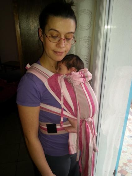 le mei tai évolutif pour porter un nouveau né