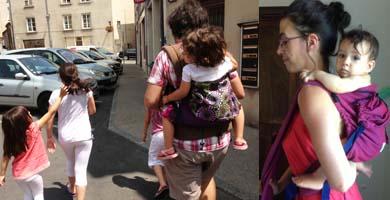 Porter b b par temps chaud papotages autour du portage - Rever de porter un bebe dans ses bras ...