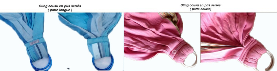 slings cousus en plis serrés