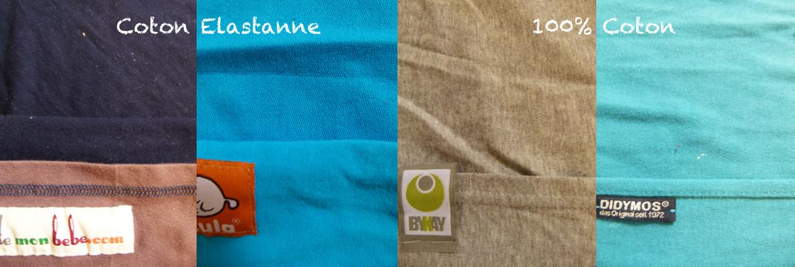 types écharpes de portage tricotées
